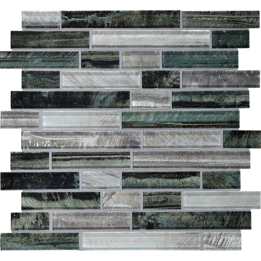 Backsplash: American Olean 12-in x 12-in Loren Place Equinox Glass ...