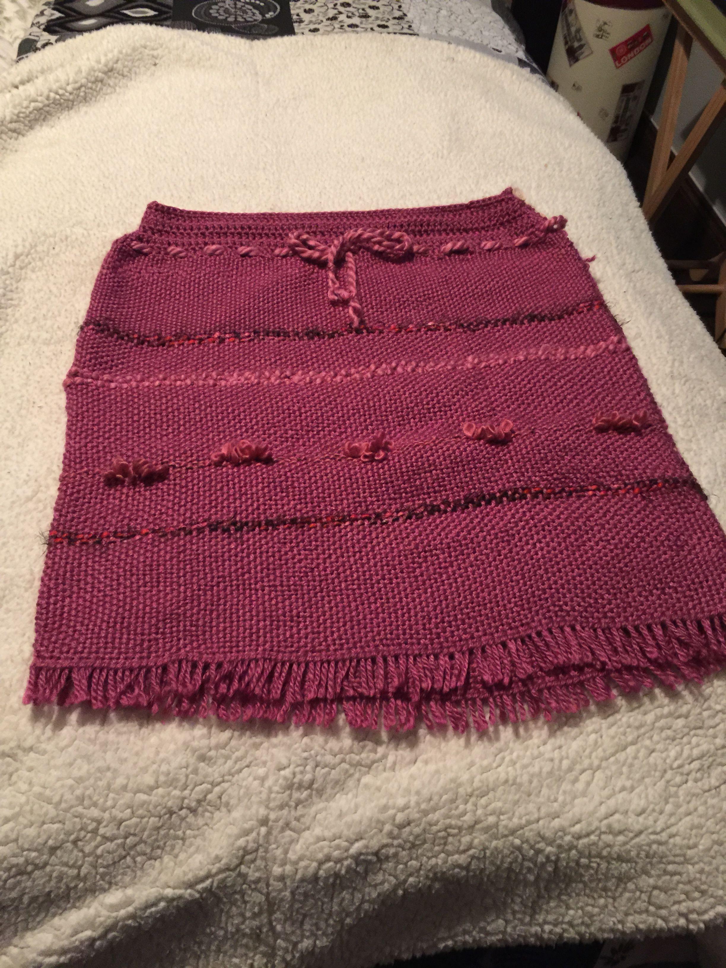 f09fbcc96 Una falda a telar   Tejidos   Ropa, Vestidos y Ropa de lana
