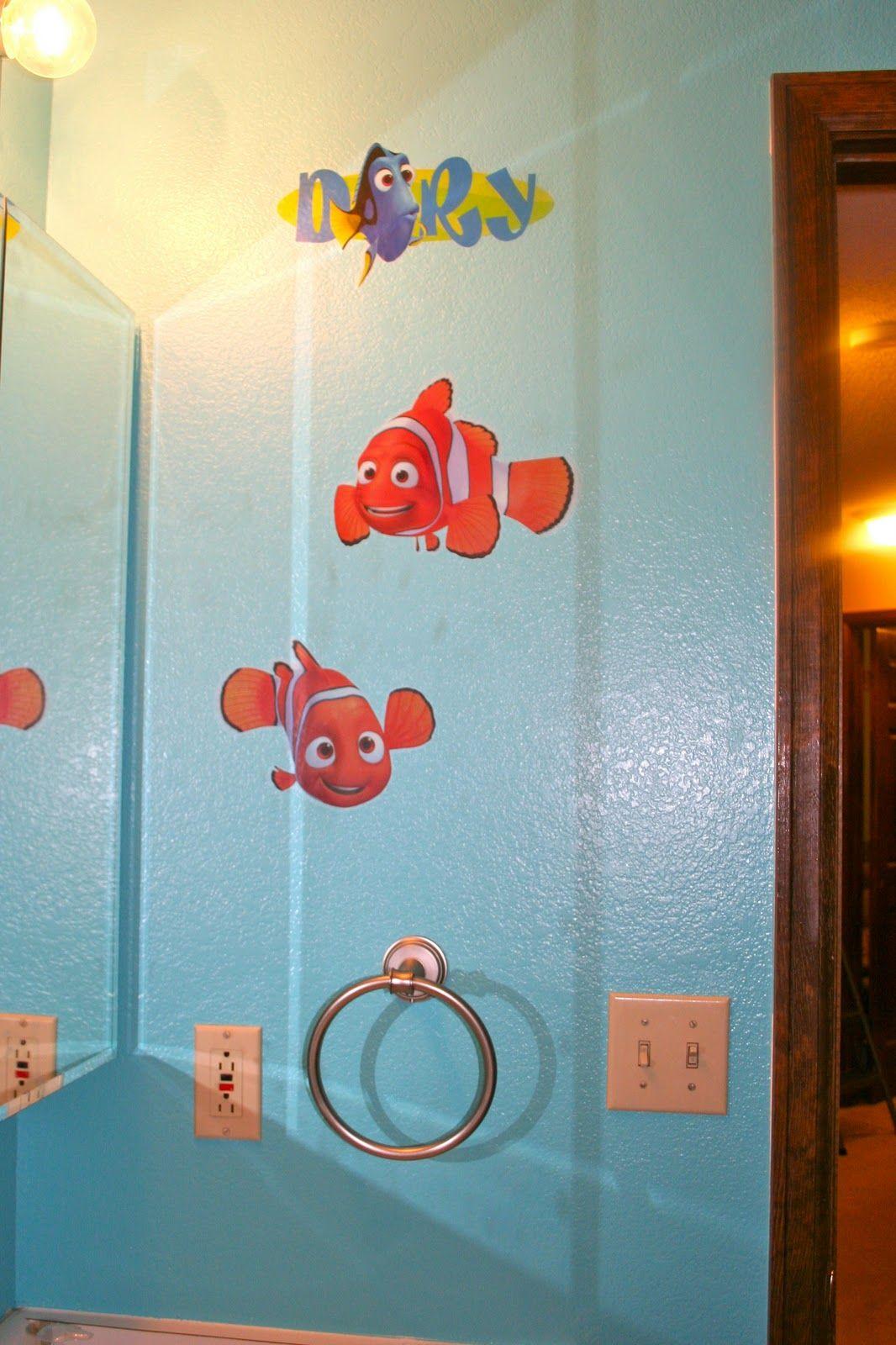 Staying Crafty The Finding Nemo Bathroom My Boy Pinterest Kid Bathroom