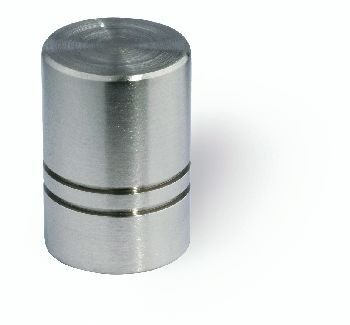 "Siro Designs 18mm Fine Brushed Stainless Steel Cabinet Knob.  Master bath - 3/4"" - might be too small"