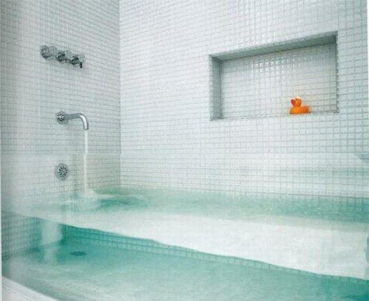 Vasca Da Bagno Trasparente : Glass bath dream home