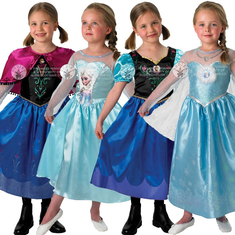 NEW 3-5 XS FROZEN ANNA COSTUME PLAY DRESS GOWN CAPE HALLOWEEN GIFT GIRL DISNEY
