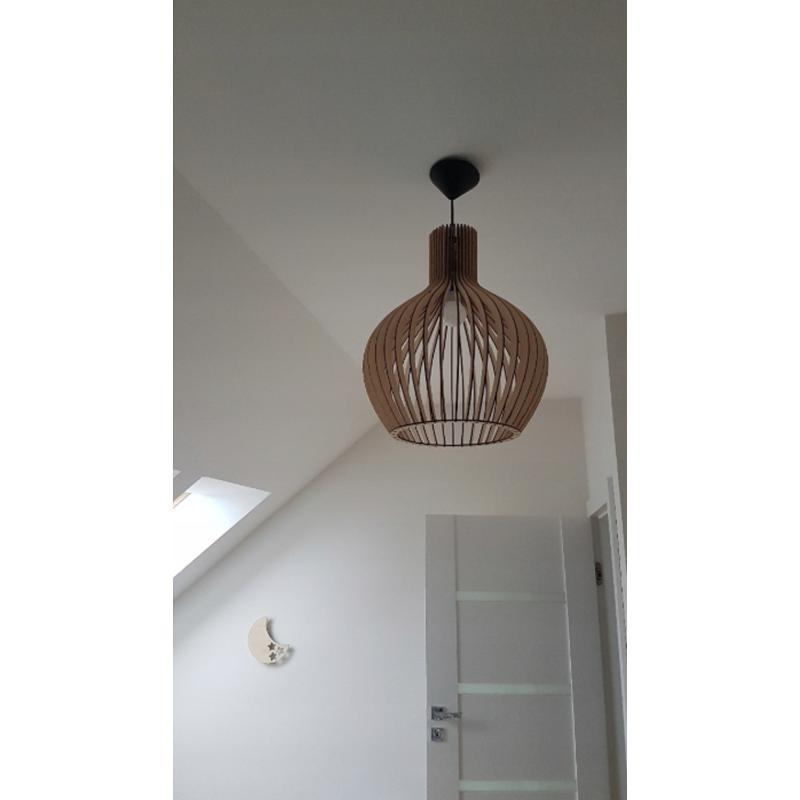 Lampa Drewniana Sufitowa Wiszaca Drewno Pear 80cm Ceiling Lights Pendant Light Home Decor
