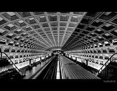 McPherson Square Metro Station | Washington, DC.  The Metro in Washington is very dark.  This picture makes it look bright.