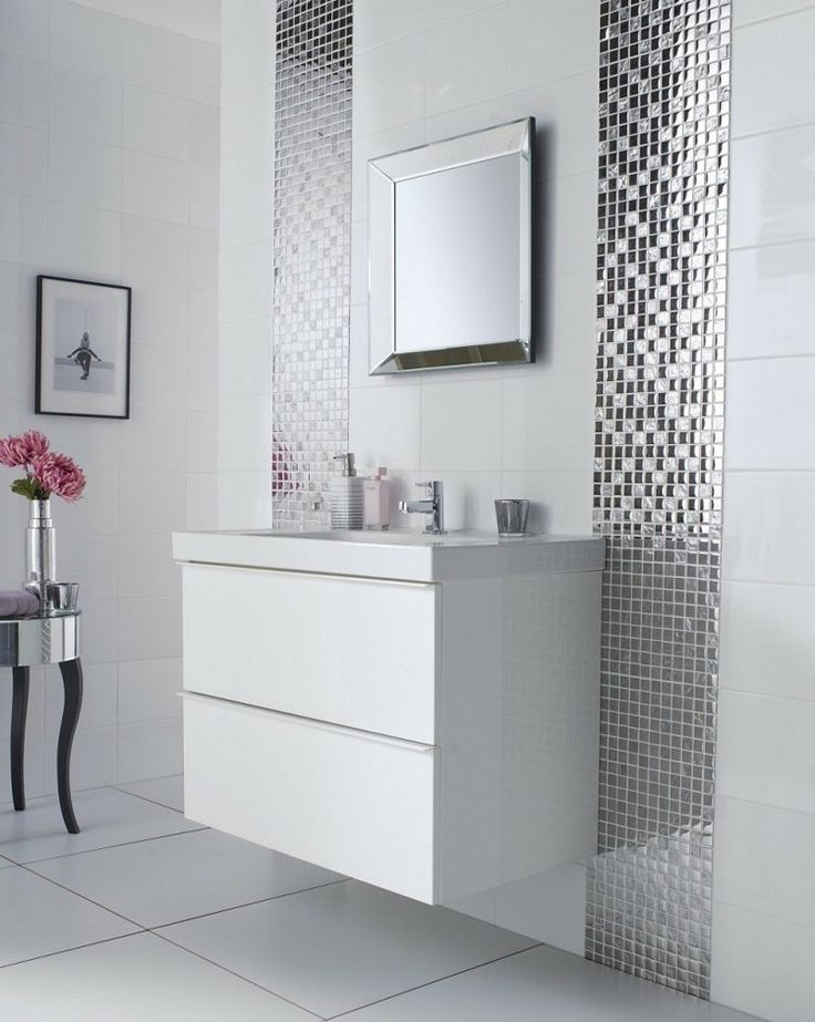 peinture carrelage salle de bain ides de motifs et couleurs - Salle De Bain Avec Mosaique