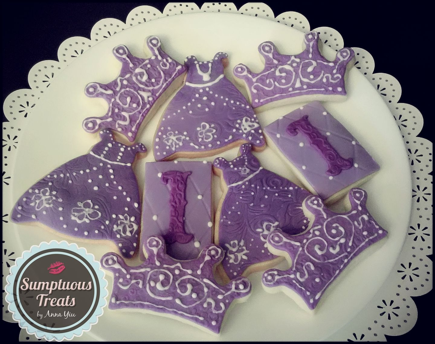 Sofia the First Cookies CustomMadeToOrder Cakes Desserts