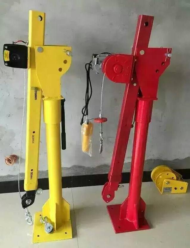 Maximum Lift 1000lbs Electric Winch Powder Coated Davit Crane