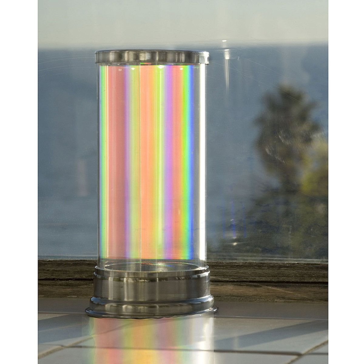 This glass lamp will cast shimmering prismatic rainbows across your walls.