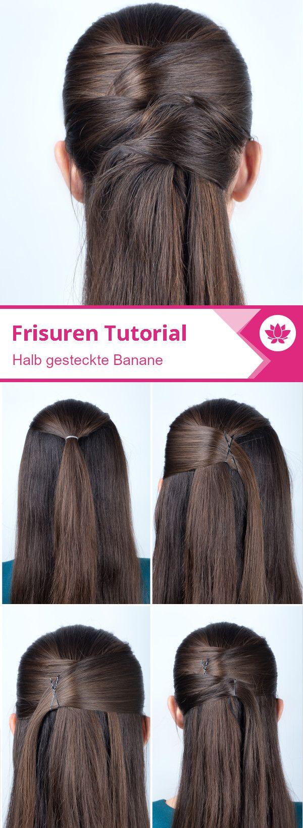 Entgegengesetzt Gestecktes Haar Im Stil Einer Banane Frisuren