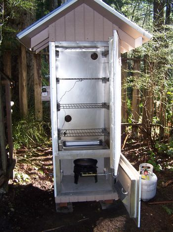 smoker finished and smokin smoker pinterest smokehouse smoking and meat - Meat Smokehouse Plans