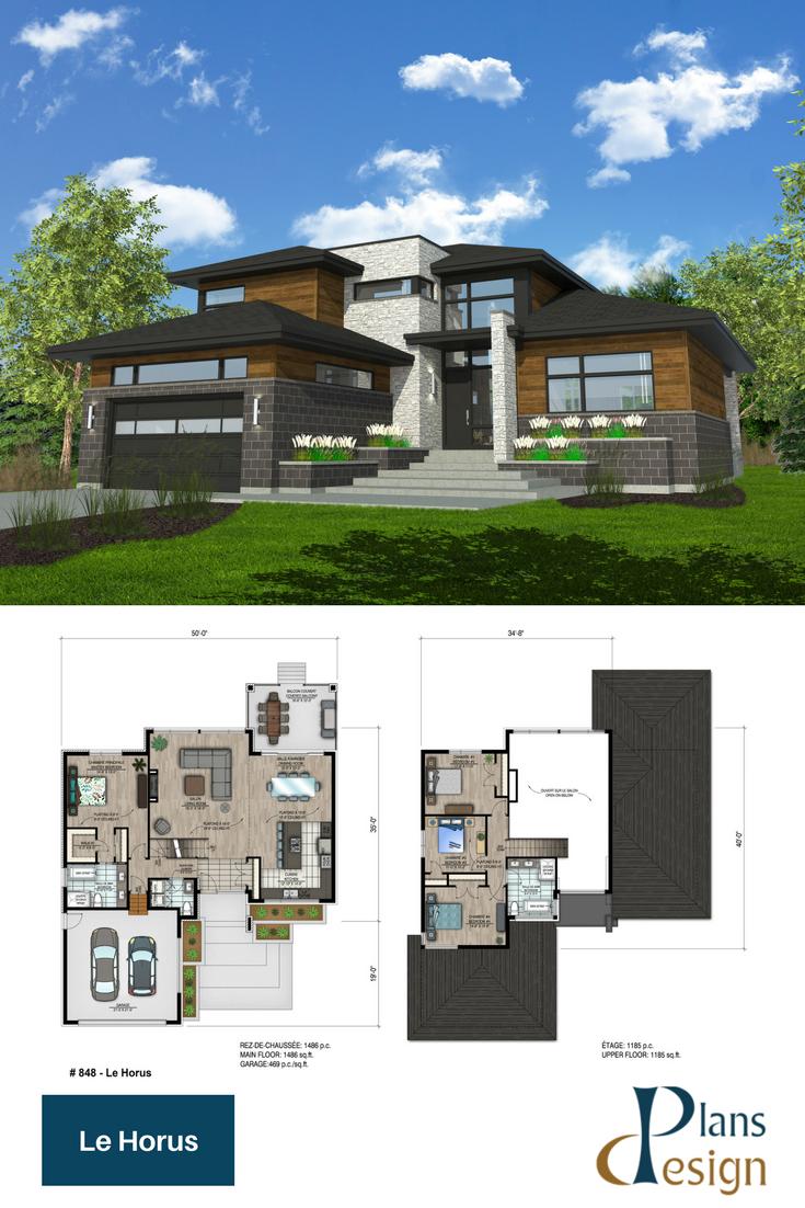 Modern style home plan twostoreyhomeplans also architecture in rh pinterest
