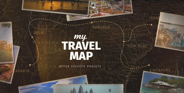 My travel map holidays envato videohive aftereffects after videohive my travel map project for after effects gumiabroncs Gallery