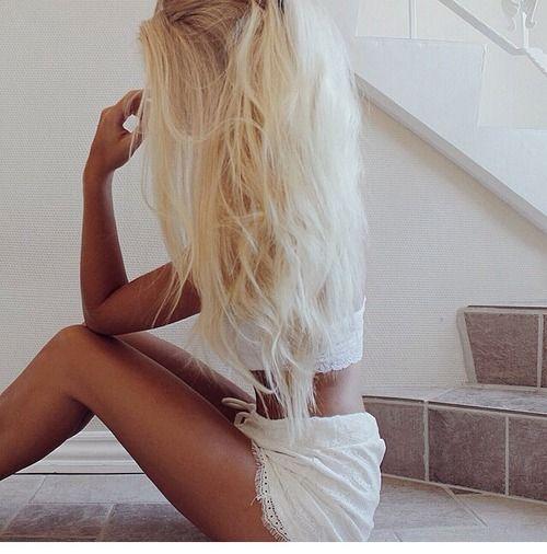 with blonde girls tumblr Tan hair