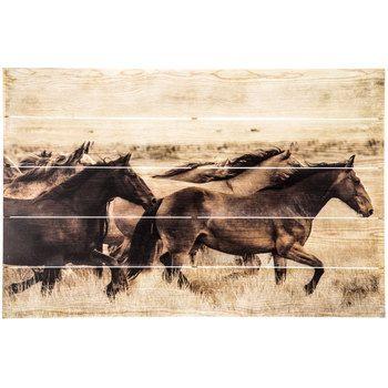 horses wood plank wall decor western horse decor pinterest