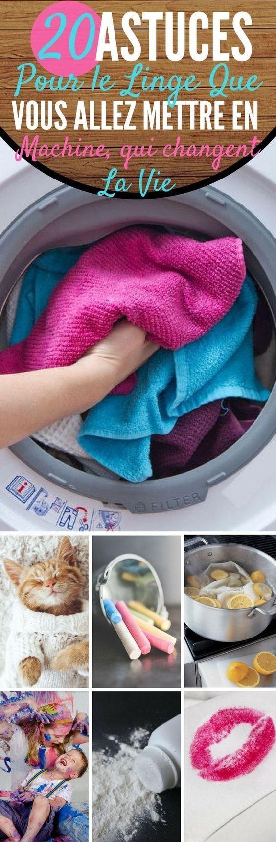 machine a laver : 20 astuces qui changent la vie ! | diy | pinterest