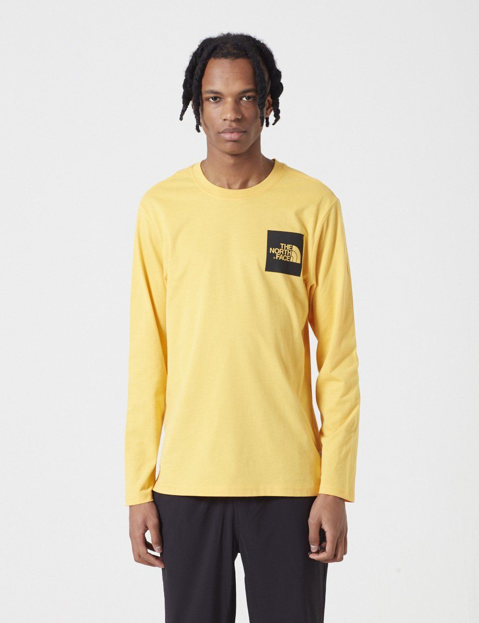 15e092696 North Face Black Label Fine Long Sleeve T-Shirt - TNF Yellow ...
