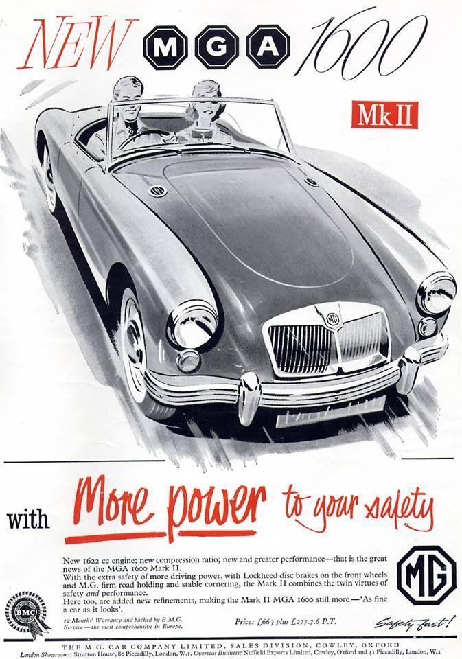 Pin By CARLTON NOBLE On MG ABINGDON Pinterest British Car - Sports cars posters