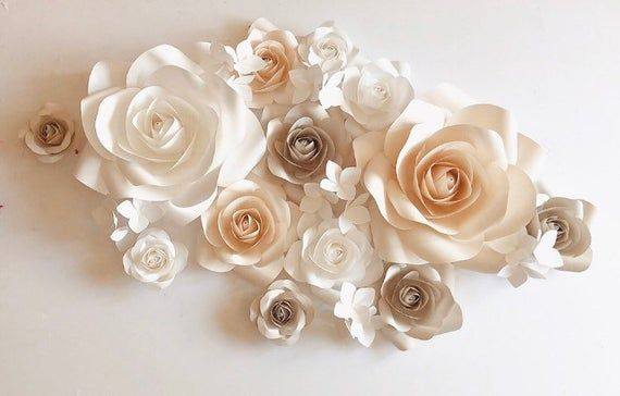 Nursery Paper Flowers - Paper Flower Wall Decor - Large Paper Flowers - Paper Flower Decor - Nursery #largepaperflowers