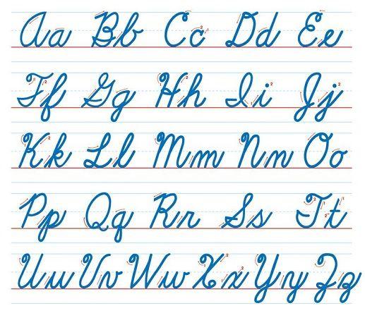 English handwriting user pinterest - Fuente letra infantil ...
