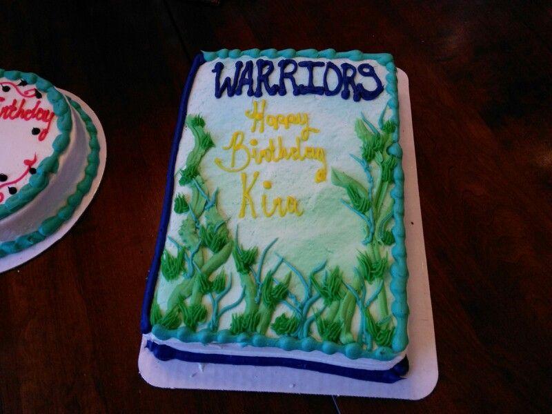 Warriors Cat Birthday Cake Shaped Like The Book Cakes Pinterest