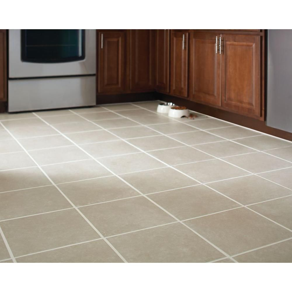 Trafficmaster Pacifica 12 In X Beige Ceramic Floor And Wall Tile 15 Sq Ft Case