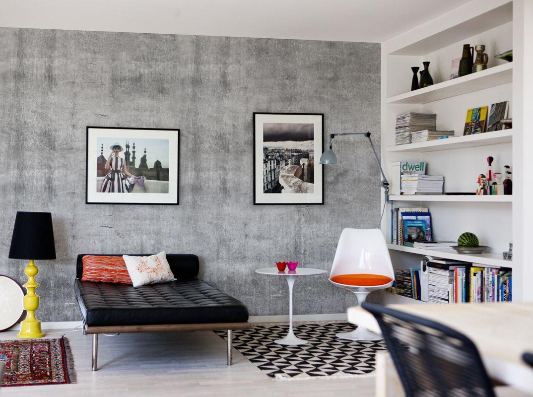 grau kann stylish sein - nicht langweilig - gefunden bei http://feine-tapeten.de
