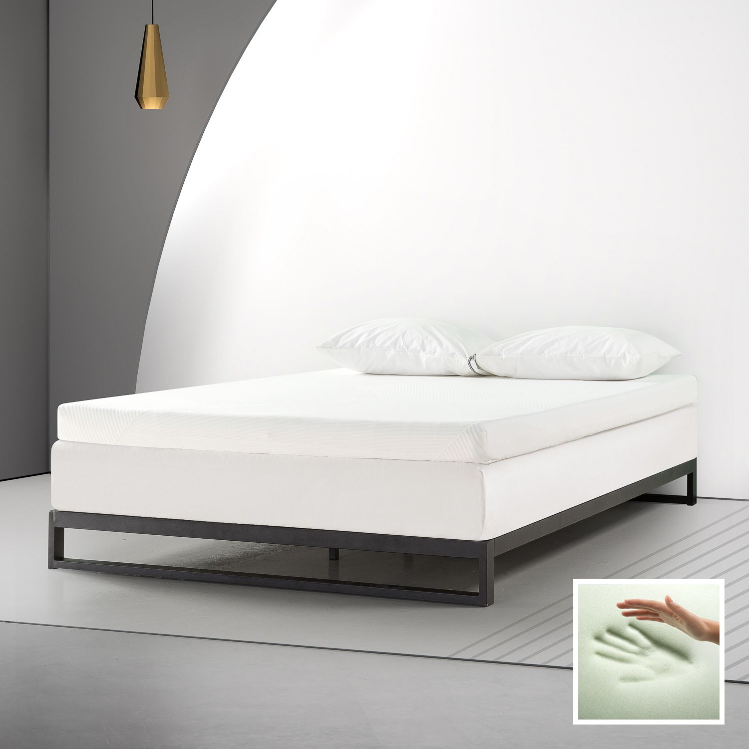 Spa Sensations By Zinus 4 Memory Foam Mattress Topper With Theratouch King Walmart Com In 2020 Mattress Topper Memory Foam Mattress Topper Foam Mattress Topper