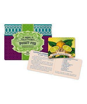 Look what I found on #zulily! Pocket Pies Recipe Box by Studio Oh! #zulilyfinds