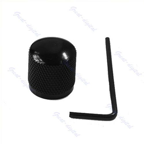 Metal Electric Guitar Bass Tunning Dome Tone Knob Knobs For Fender Tele Black