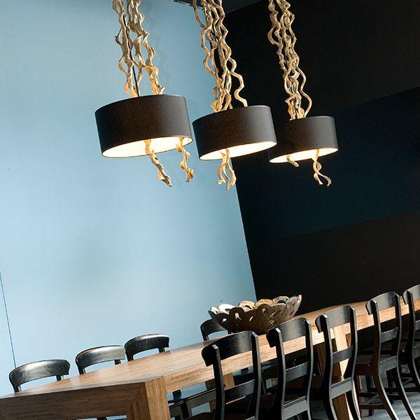 Lange tafel en lampen   eetkamer   Pinterest