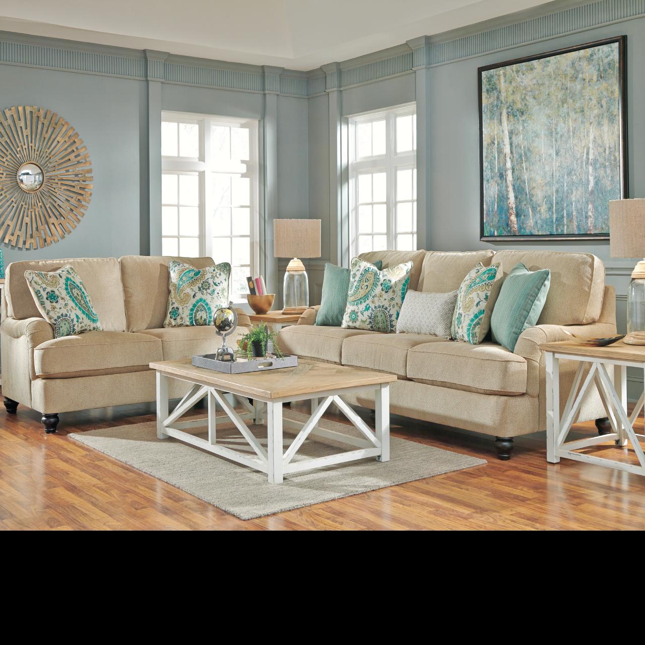 coastal living room ideas: lochian sofa by ashley furniture at