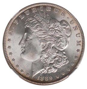 Morgan Dollars 1889 S One Dollar Ms Silver Dollar Value Morgan Dollars Silver Dollar