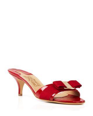 e3835eef813ad SALVATORE FERRAGAMO Glory Open Toe Slide Kitten Heel Sandals.   salvatoreferragamo  shoes  sandals