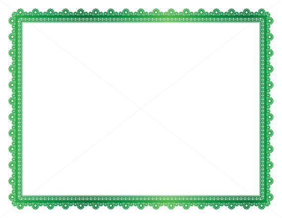 Metallic Green Decorative Frame, Page Border, Digital Frame - free page borders for microsoft word