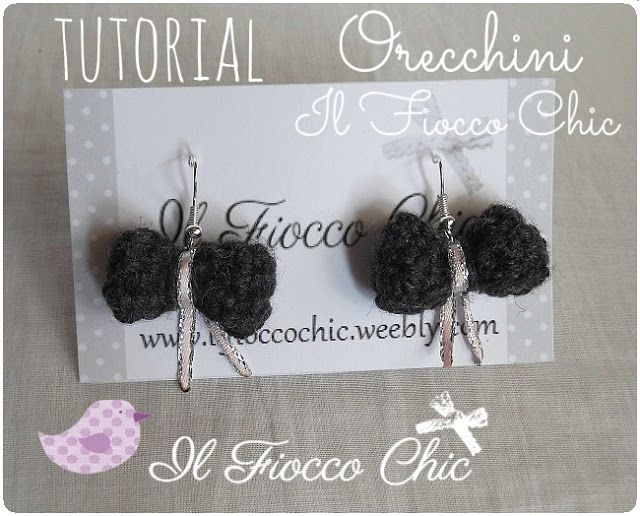 Tutorial Orecchini Fiocco all'uncinetto by Nina#ilfioccochic, #tutorialcrochet, #tutorialorecchini, #tutorialuncinetto, #fioccouncinetto, #orecchiniuncinetto