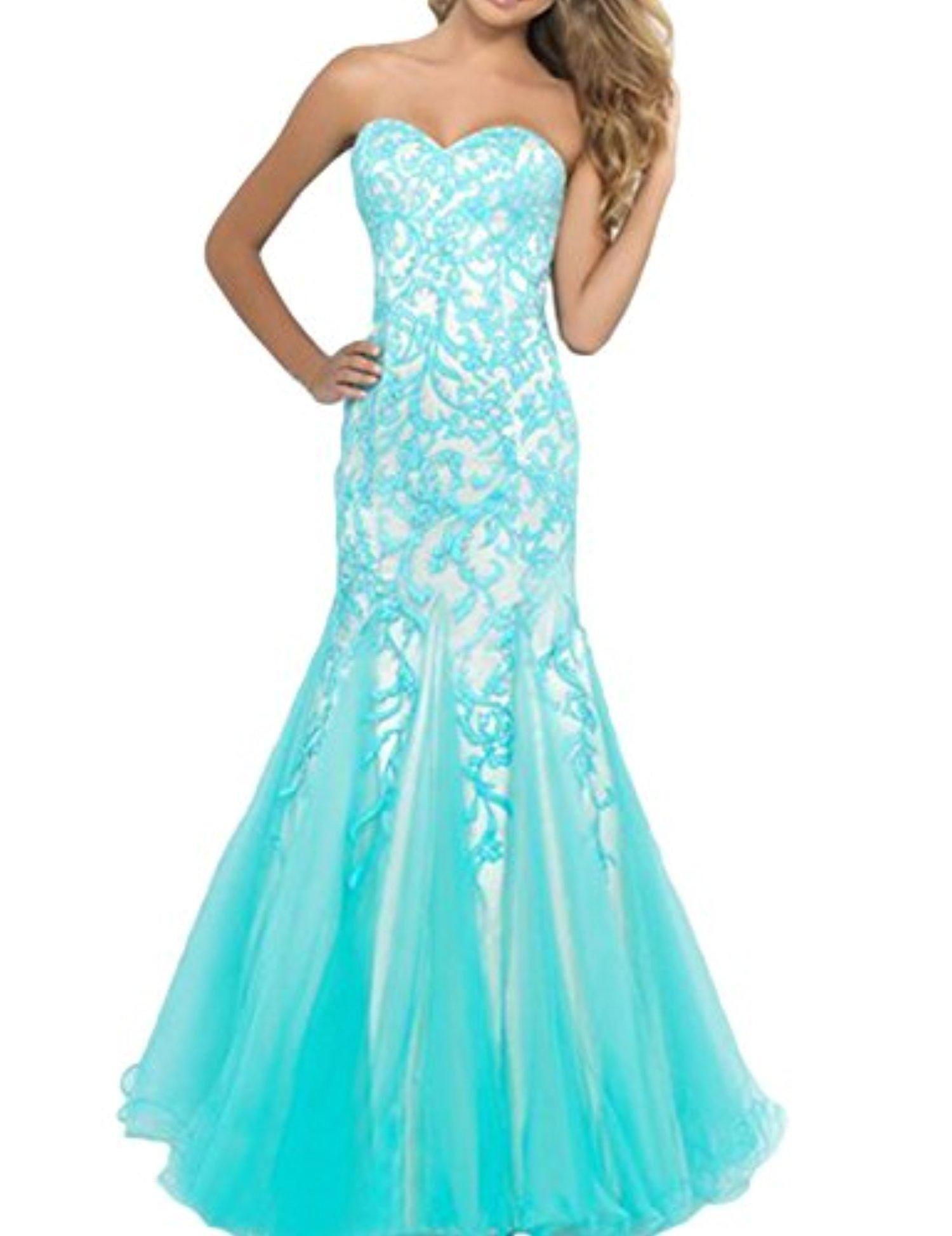 PromMe 2016 New Style Prom Dresses Mermaid Sweetheart Floor Length ...
