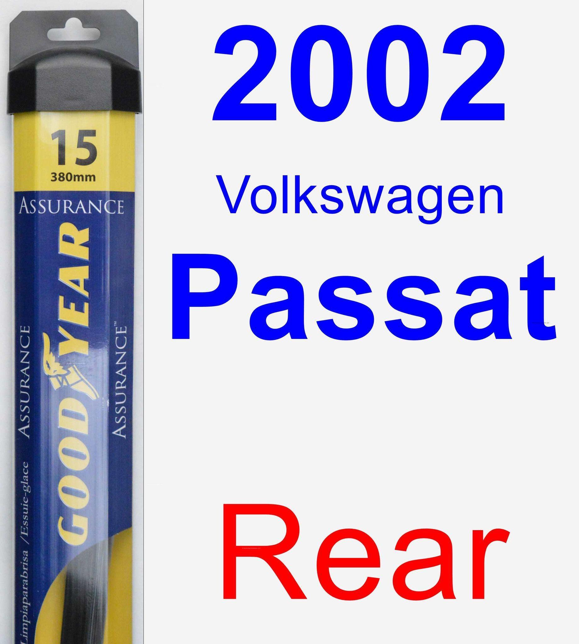 rear wiper blade for 2002 volkswagen passat assurance