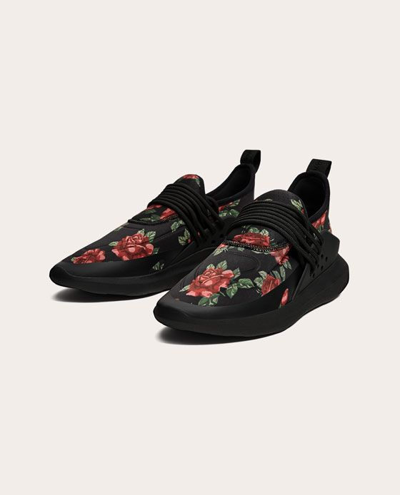 8cb2d4923ea BLACK FLORAL SNEAKERS-View all-SHOES-MAN