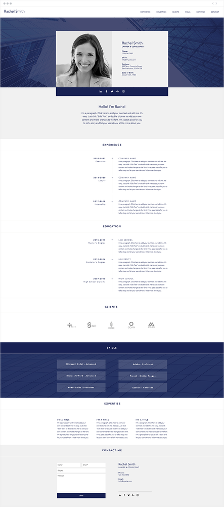 7 Polished Resume Website Templates For All Professionals In 2020 Wix Templates Website Template Wix Website Templates
