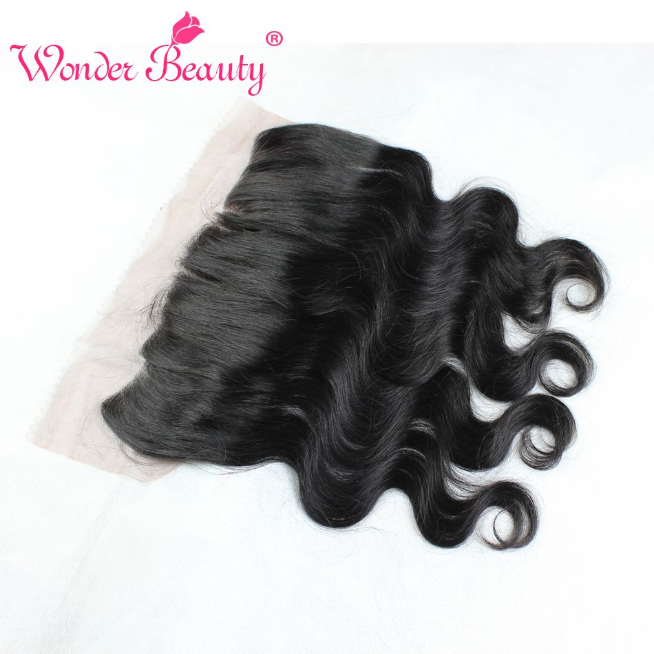 cheap brazilian lace frontal closure 13x4 virgin brazilian hair lace frontal closure natural black 12-20 inch human hair closure