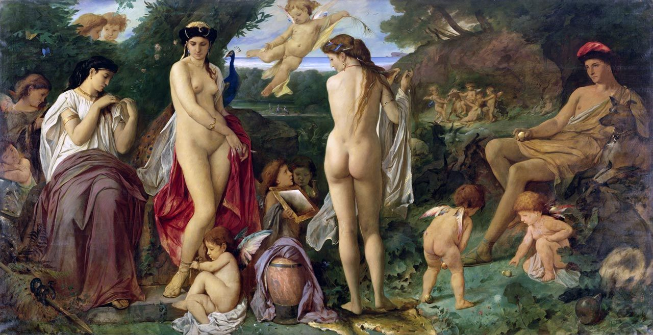 Anselm Feuerbach - The Judgment of Paris, 1870