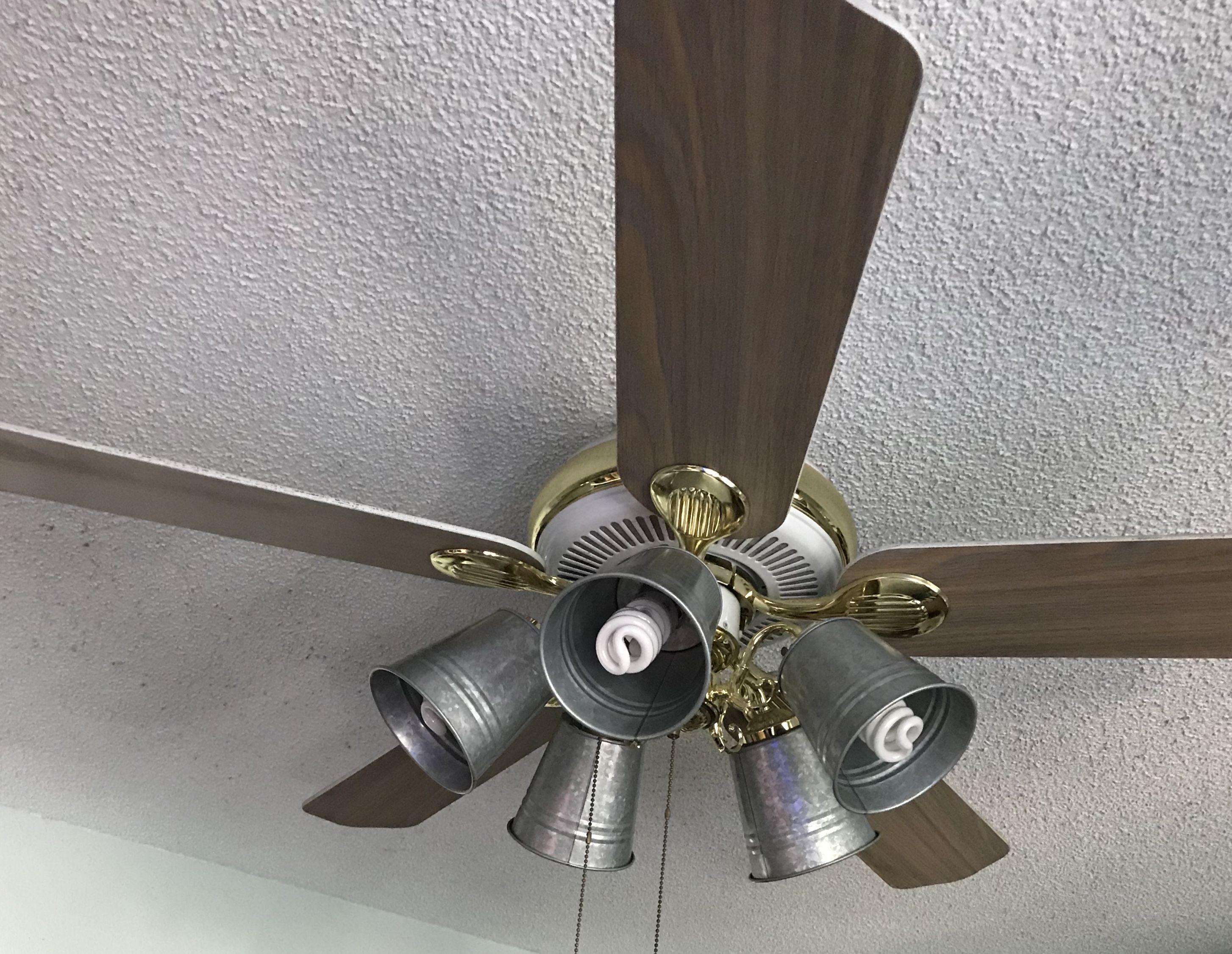 Galvanized bucket ceiling fan globe replacement...diy