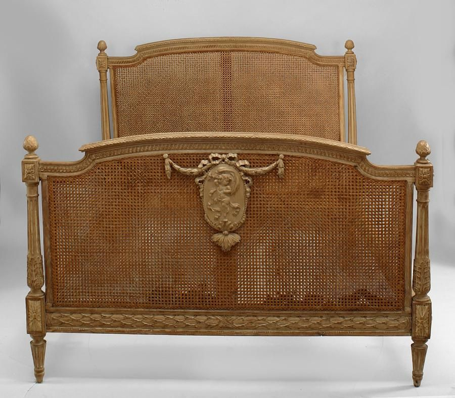 French Louis XVI Bed Full-size Stripped