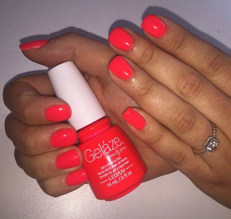 Pin By Malissa Lopez On Mani Pedi With Images Red Shellac