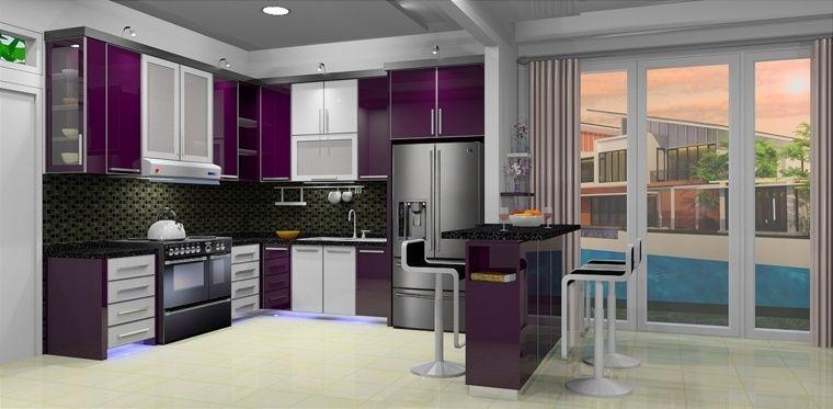 Cuisine couleur aubergine : inspirations violettes en 71 idées ...