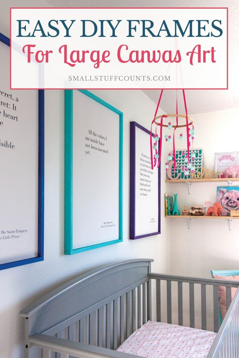 DIY Picture Frames For Large Canvas Art | TOP Pins from Top Bloggers ...