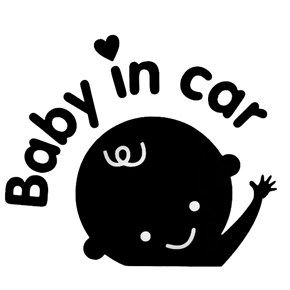 Waving Hand Baby In Car Design Car Sticker Car Decal Cmcm - Car sticker decals