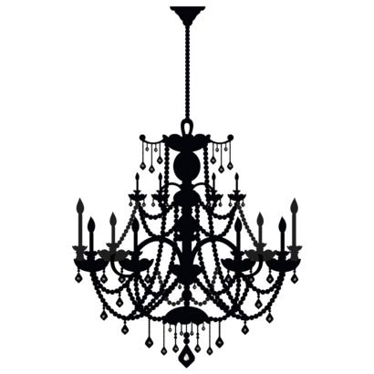 Black chandelier wall decal for the home pinterest wall decals black chandelier wall decal aloadofball Choice Image