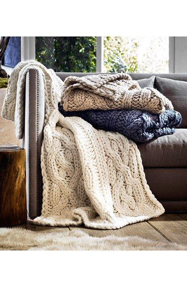 Ugg Throw Blanket Alluring Ugg® Australia Oversize Knit Throw  Nordstrom  Home Accessories Inspiration Design