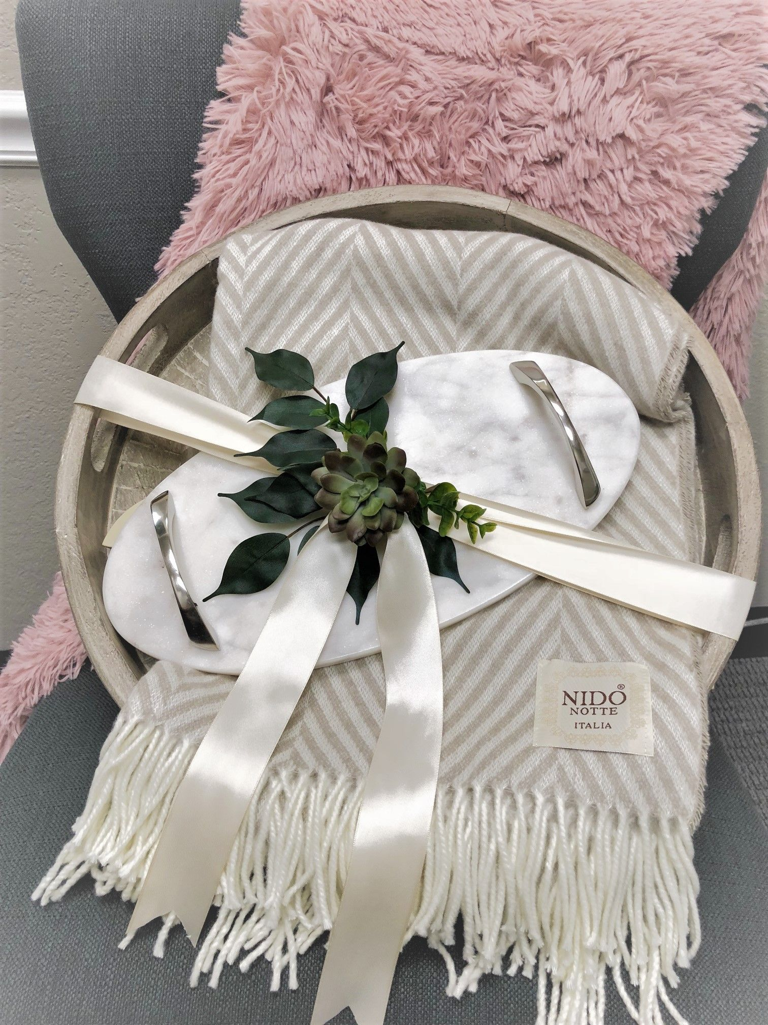 House Warming Gift Idea Cozy Home Marble Details Italian
